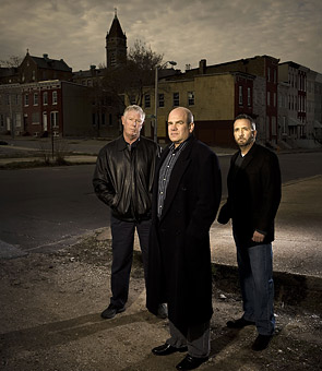Ed Burns, David Simon and George Pelecanos