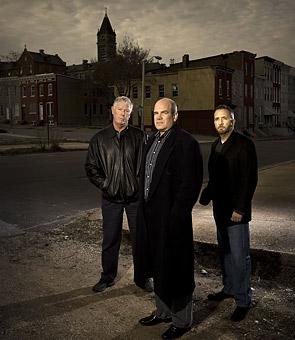 Ed Burns, David Simon and George Pelecanos
