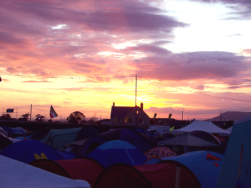 Sunset Over Tent Town