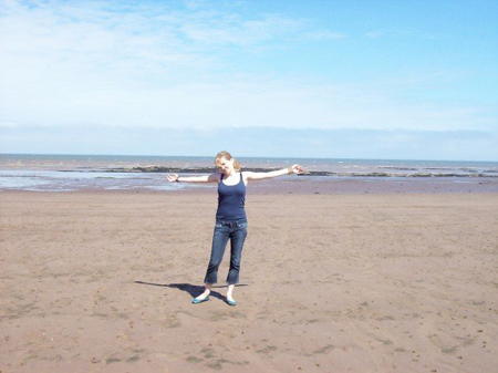 Me, the last time I was on Blue Anchor Beach...