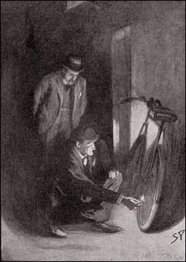 """""""I heard him chuckle as the light fell upon a patched Dunlop tyre."""""""