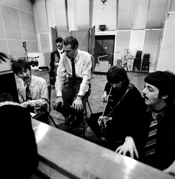The Beatles at Abbey Road recording, er, Sgt Pepper