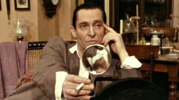 Jeremy Brett oin 'The Adventure of the Blue Carbuncle'.